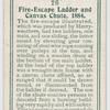 Fire-escape ladder and canvas chute, 1884.