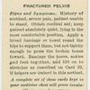 Fractured pelvis.