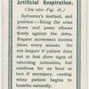 Artificial respiration.