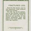 Fractured leg.