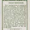 Head bandage.