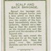 Scalp and back bandage.