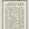Suffocation by poisonous gases.