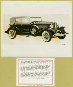 Auburn 1933. Three-quarter front view of Auburn's new 1933 salon 5-passenger phaeton sedan.