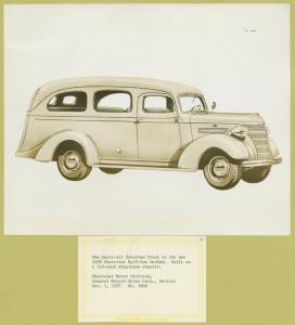 The carry-all suburban truck in the new 1938 Chevrolet half-ton series.