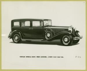 Chrysler Imperial eight sedan limousine.