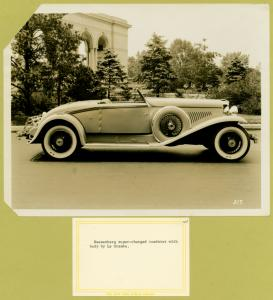 Duesenberg super-charged roadster.