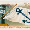 Blue Anchor Line, (W. Lund & Sons), London.