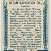 Pennisular & Oriental Steam Navigation Co., London.