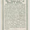 "The ""Sabah Jack"" of British N. Borneo."