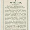 Abyssinia.