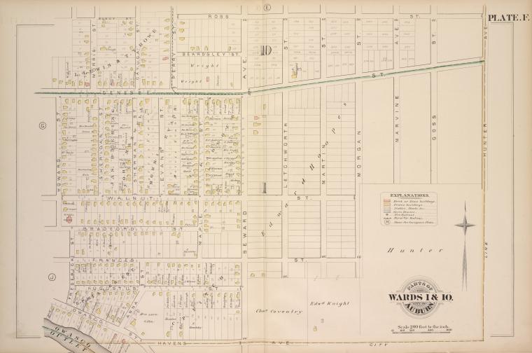 Parts of the City Auburn. Wards 1&10.