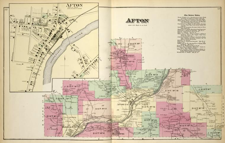 Afton [Village]; Afton [Township]; Afton Business Notices.