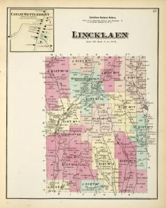 Catlin Settlement [Village]; Lincklaen Business Notices.; Lincklaen [Township]