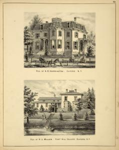 Res. of A.D. Harrington, Oxford, N.Y.; Res. of H.L. Miller, Fort Hill Square, Oxford N.Y.