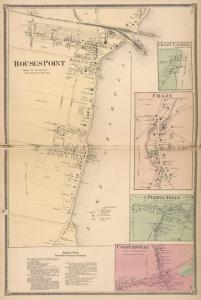 RousesPoint [Village]; Chazy Landing [Village]; Chazy [Village]; Perrys Mills [Village]; Coopersville [Village]; Rouse's Point Subscriber's Business Directory.