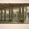 Ansicht des kaiserl. Zimmers neben dem Empfang-Saale von der Mitte der Vorderfront nach dem Meere zu; die Ansicht des Einganges in das Museum, [...]