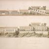 Längendurchschnitt des Schlosses; Seiten-Façade des Schlosses.