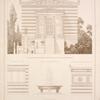 Architektur der Capelle; Fenster der Capelle; Fontaine von dem Parthenon; Aeussere Architektur v. Hauptsaal; Plafond der Vorhalle.
