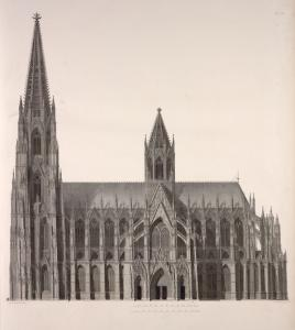 [Elevation of the cathedral, east side.]