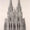 Elevation of the cathedral, south end.]