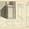 The Corinthian pedestal, with its pilasters, in perspectives.