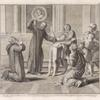 Sacerdos jussu S. Nili vexatum a Dæmone Filium Polyeucti ducis exercitus olea sacræ lampadis inungit, et statim liberatur.