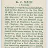G. C. Male (Arsenal).