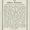Albert McInroy (Sunderland and England).