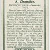 A. Chandler (Centre forward -- Leicester City).