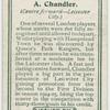 A. Chandler (Centre forward -- Leicester City).