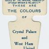 These are the colours of Crystal Palace and West Ham United A. F. C.