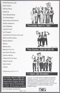 Fashion for Action. Thursday April 4, 1991.