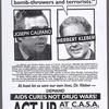 """Meet with ACT UP. """"I don't debate intellectual bomb-throwers and terrorists."""" Herbert Kleber. ACT UP protest at C.A.S.A."""