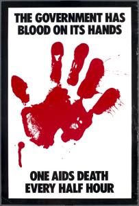 The government has blood on its hands. One AIDS death every half hour.