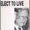Bush = Death. Elect to live. Verso: Fight Republican bigotry. [Bush and Buchanan]
