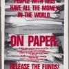 In New York people with AIDS have all the money in the world. On paper. Release the funds!  Verso: Wanted for murder [Cuomo].