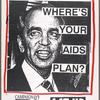 Buchanan AIDS disaster. Campaign '92. [Buchanan portrayed as Hitler with red eyes].  Verso: Tsongas. Where's your AIDS plan?