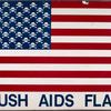 Bush AIDS Flag. (skull and crossbones in place of stars) verso: same image.