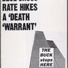 Gov. Cuomo: We need a reprieve.  Verso: Blue Cross rate hikes a death warrant. The buck stops here. [World Trade Center image].
