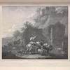 [After rocky landscape with antique ruins, original by Nicolaes Berchem.]