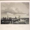 Fischer an der Nordsee.