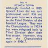 Ipswich Town (Colours blue & white).