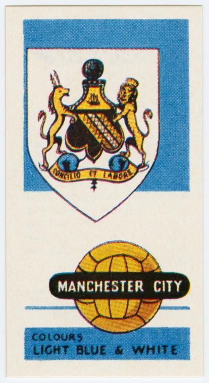 Manchester City (Colours light blue & white).