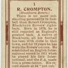R. Crompton (Blackburn Rovers).