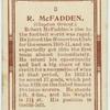 R. McFadden (Clapton Orient.).