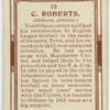 C. Roberts (Oldham Athletic).