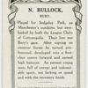 N. Bullock, Bury.