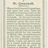W. Cresswell (Everton).