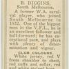 B. Diggins, South Melbourne.